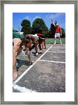 1970s Diverse Group Of Runners Framed Print