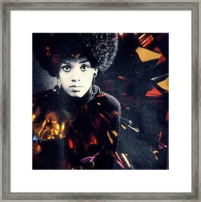 1970s Fashion Portrait Serious African Framed Print