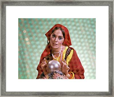 1970s Gypsy Woman Fortuneteller Fortune Framed Print