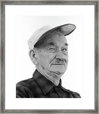 1970s Head-on Portrait Of Elderly Man Framed Print
