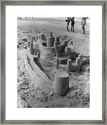 1970s Large Detailed Sand Castle Framed Print
