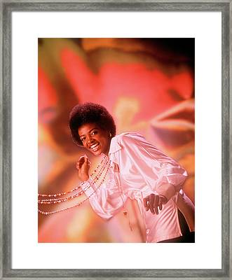 1970s Laughing Young African American Framed Print