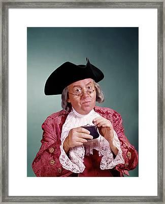 1970s Man Wearing 18th Century Ben Framed Print