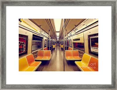 1970s Nyc Subway Train Framed Print