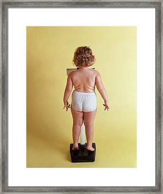 1970s Overweight Chubby Little Girl Framed Print