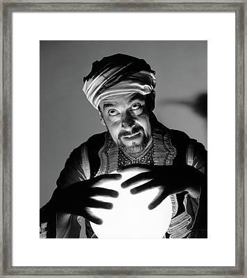 1970s Scary Fortune Teller Man Framed Print