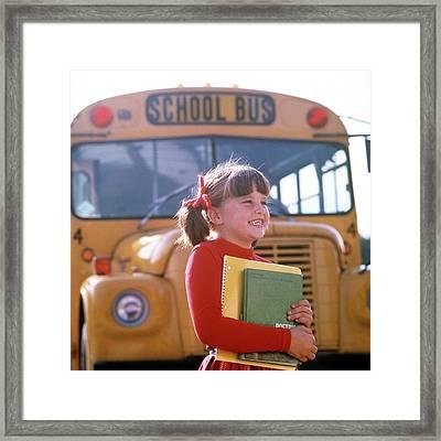 1970s Smiling Elementary School Girl Framed Print