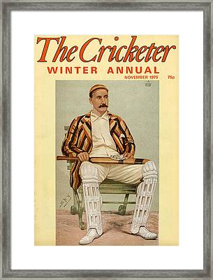 1970s Uk The Cricketer Magazine Cover Framed Print