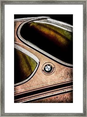 1971 Bmw 3.0csl Lightweight Prototype - Side Emblem -0476ac Framed Print by Jill Reger