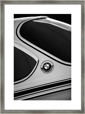 1971 Bmw 3.0csl Lightweight Prototype - Side Emblem -0476bw Framed Print by Jill Reger