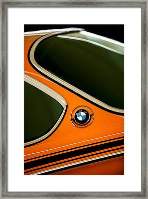 1971 Bmw 3.0csl Lightweight Prototype - Side Emblem -0476c Framed Print by Jill Reger