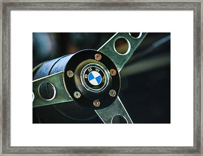1971 Bmw 3.0csl Lightweight Prototype - Steering Wheel Emblem -0498c Framed Print by Jill Reger