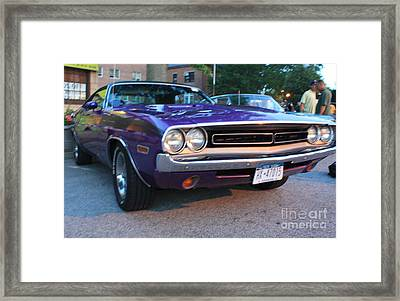 1971 Challenger Front And Side View Framed Print by John Telfer