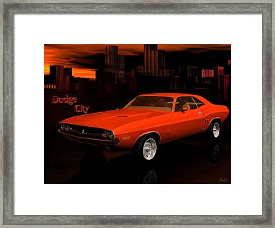 1971 Challenger Framed Print by John Pangia