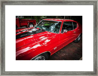 1971 Chevy Chevelle 454 Ss Painted     Framed Print