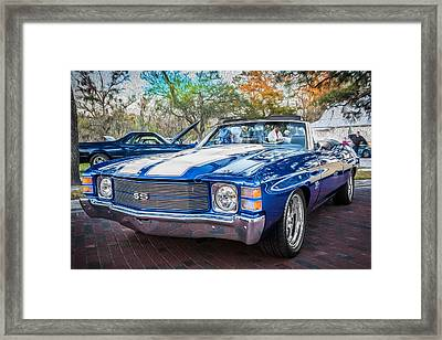 1971 Chevy Chevelle Ss Convertible Ls1 Painted Framed Print