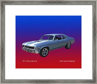 1971 Chevy Nova S S Framed Print