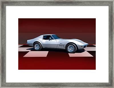1971 Corvette Checker Board Framed Print
