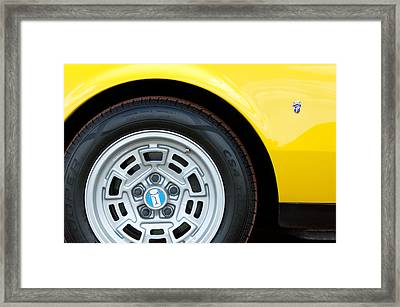 1971 Detomaso Pantera Wheel  Framed Print