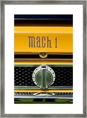 1971 Ford Mustang Mach 1 Emblem -0483c Framed Print