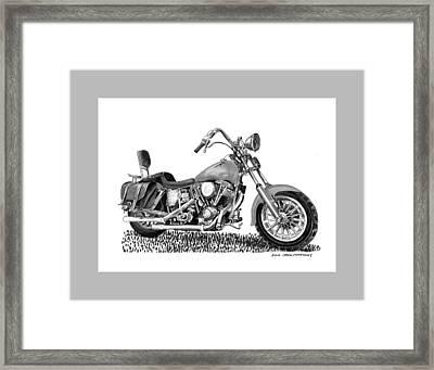 1971 Harley Davidson S O A Shovel Head F  L Framed Print by Jack Pumphrey