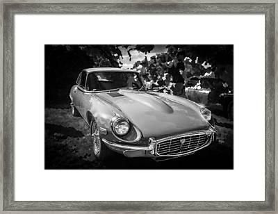 1971 Jaguar 3 Series E Type 2 Plus 2 Bw Framed Print by Rich Franco