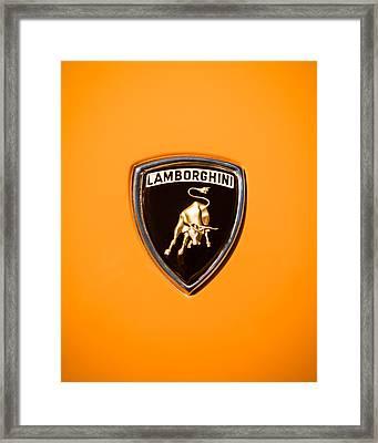 1971 Lamborghini Miura Sv Emblem -0376c45 Framed Print