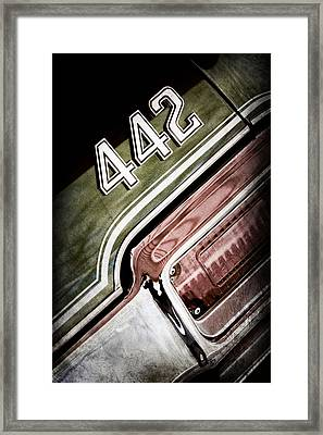 1971 Oldsmobile 441 Taillight Emblem Framed Print