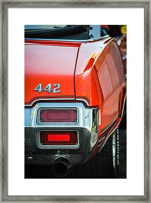 1971 Oldsmobile 442 Convertible Taillight Emblem -1683c Framed Print