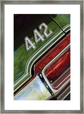 1971 Oldsmobile 442 Taillight Emblem Framed Print