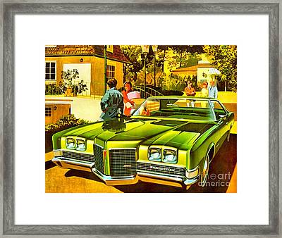 1971 Pontiac Bonneville Coupe Framed Print