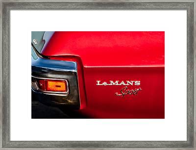 1971 Pontiac Lemans Sport Taillight Emblem Framed Print by Jill Reger
