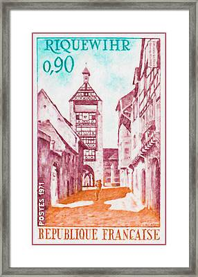 1971 Riquewihr Framed Print by Lanjee Chee