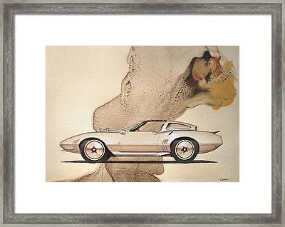 1972 Barracuda  A  Cuda Plymouth Vintage Styling Design Concept Rendering Sketch Framed Print