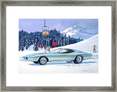1972 Barracuda Cuda Plymouth  Vintage Styling Design Concept Rendering Sk Framed Print by John Samsen