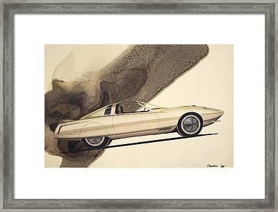 1972 Barracuda  Cuda Plymouth Vintage Styling Design Concept Rendering Sketch Framed Print by John Samsen