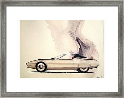 1972 Barracuda  Cuda Plymouth Vintage Styling Design Concept Sketch C69b Framed Print by John Samsen