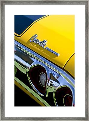 1972 Chevrolet Chevelle Taillight Emblem Framed Print by Jill Reger