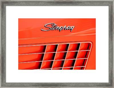 1972 Chevrolet Corvette Stingray Emblem 3 Framed Print by Jill Reger