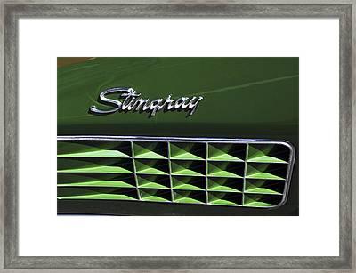 1972 Chevrolet Corvette Stingray Emblem Framed Print