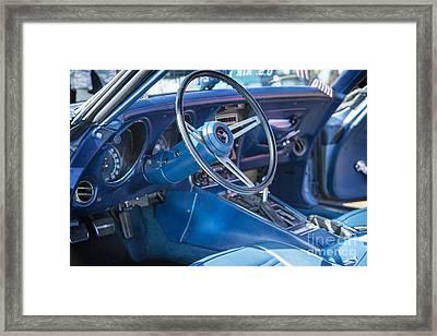 1972 Chevrolet Corvette Stingray Interior Blue 3031.02 Framed Print