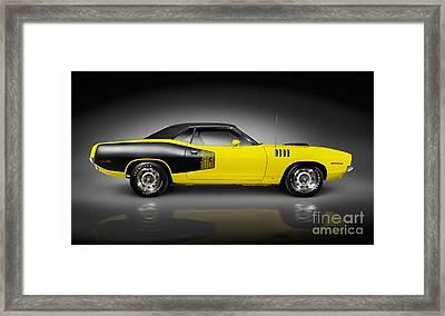 1972 Dodge Challenger Retro Sports Car Framed Print by Oleksiy Maksymenko
