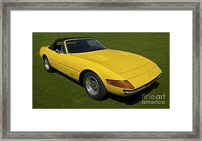 1972 Ferrari 365 Gts/4 Daytona Spyder Framed Print