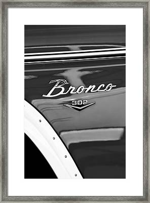 1972 Ford Bronco Emblem Framed Print by Jill Reger