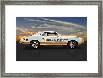 1972 Hurst Olds Pace Car Framed Print