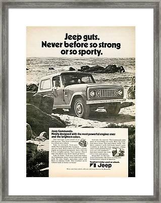 1972 Jeep Commando Framed Print