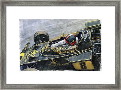 1972 Monaco Gp Emerson Fittipaldi Lotus72 D Framed Print by Yuriy Shevchuk