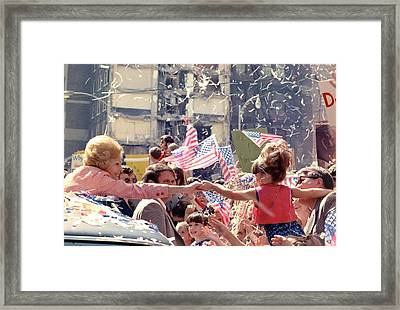 1972 Nixon Presidential Campaign. Pat Framed Print by Everett