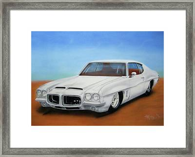 Framed Print featuring the painting 1972 Pontiac Gto by Thomas J Herring