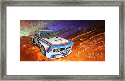 1973 Bmw 3.0 Csl Batmobile Touring Car Framed Print